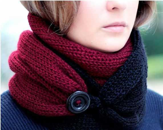 связать спицами шарф
