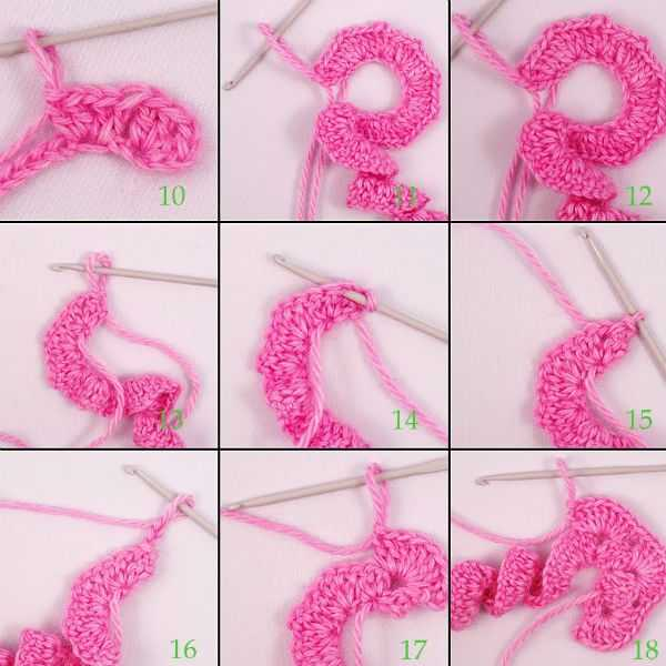 техника вязания фриформ
