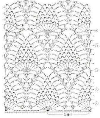 Ажурный узор ананас схема фото 870