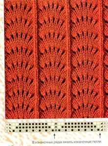 Павлиний хвост спицами: вязание разными способами по схеме.