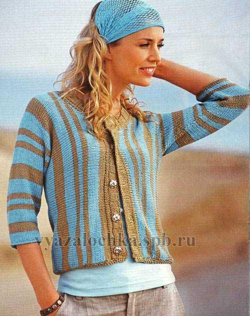вязание спицами для женщин из хлопка модные