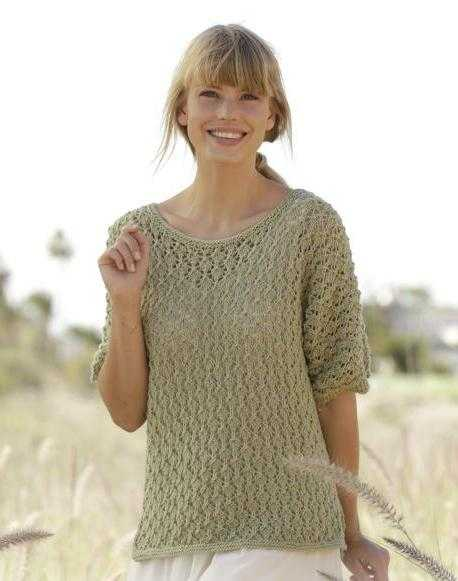 вязание из хлопка спицами для женщин