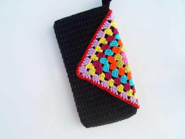 вязание крючком чехол для телефона