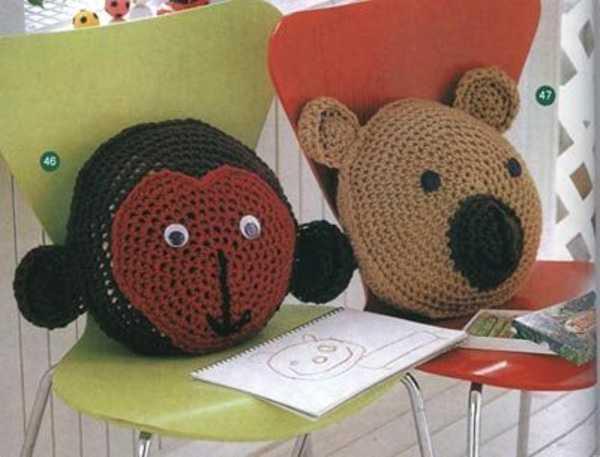вязание крючком игрушки подушки