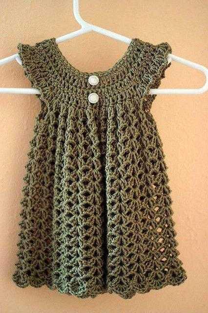 вязание крючком кокетки платья сверху для девочки мастер класс