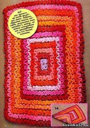 вязание крючком коврики для ванной комнаты схемы и описание