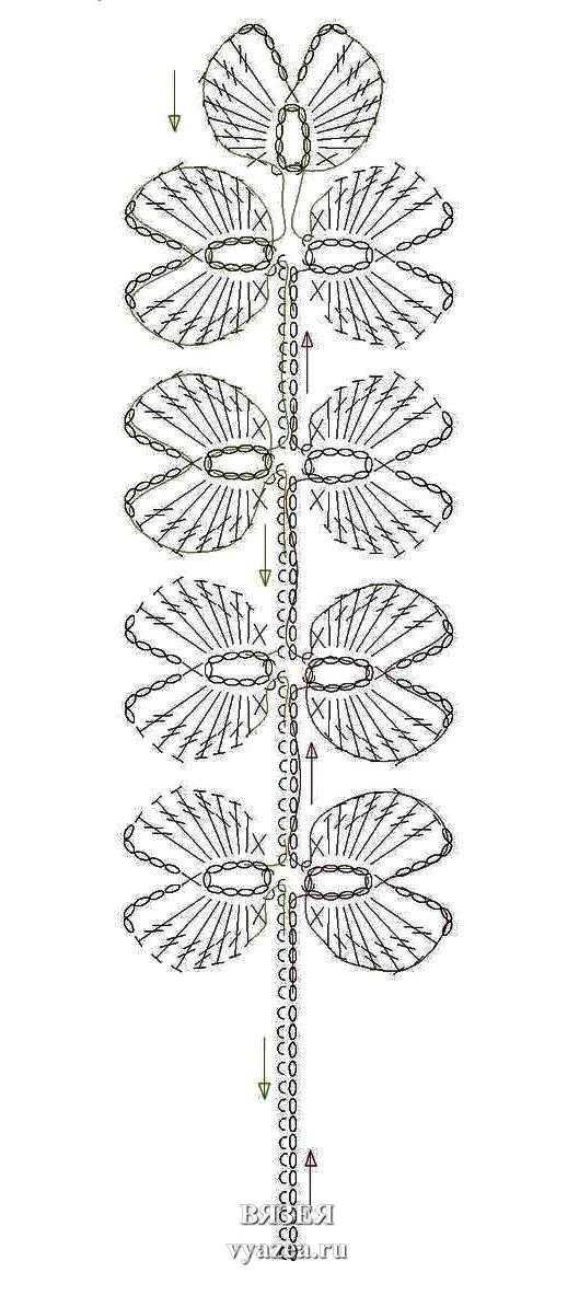 Вязание крючком четырёхлистник 48