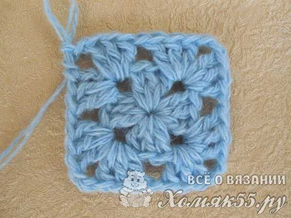 вязание крючком накидки на табурет