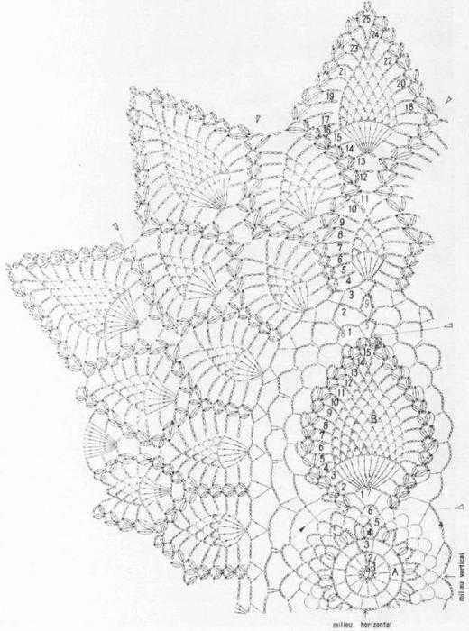 Овальная салфетка крючком схема для начинающих фото 579