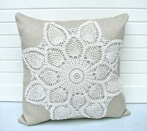 Вязание крючком подушки на диван
