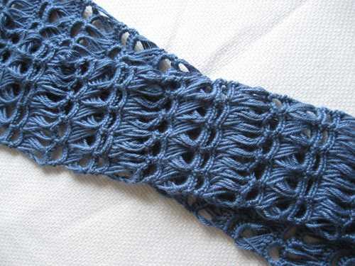 вязание крючком шарфа