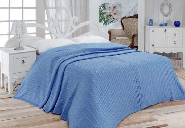 вязание пледов и покрывал на диван спицами