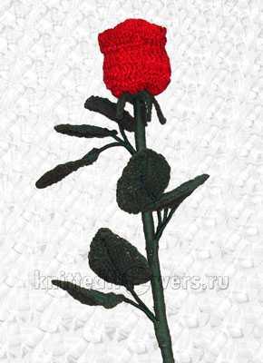 вязание розы крючком схемы и описание