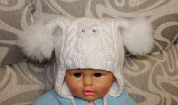 вязание спицами детские шапочки для девочек
