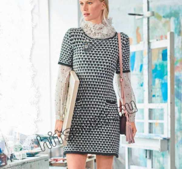 4cf0752ab3ad065 Вязанные платья со схемами и описанием спицами для женщин