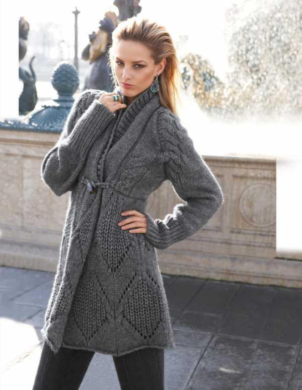 пальто оверсайз спицами схемы и описание
