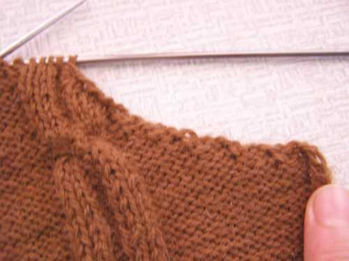 Вязание спицами закрытие петель для проймы спицами